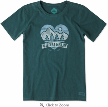 Life is Good Wild At Heart Women's Crusher T-Shirt - Click to enlarge
