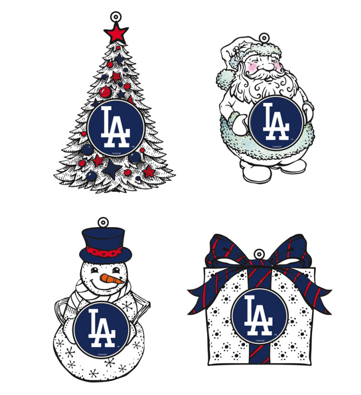 Los Angeles Dodgers LED Christmas Tree Ornaments