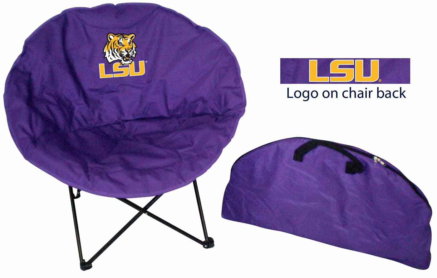 LSU Tigers Rivalry Round Chair