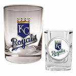 MLB 14 Oz Rocks Glass & Square Shot Glass 2-Piece Set