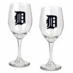 MLB 2-Piece Wine Glass Set