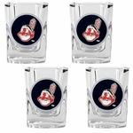 MLB 4-Piece Square Shot Glass Set