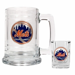 MLB Boilermaker Set - 2 Oz. Square Shot Glass & 15 Oz. Tankard Mug