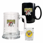 MLB Glass Tankard Beer Mug / Ceramic Coffee Mug / Square Shot Glass 3-Piece Set