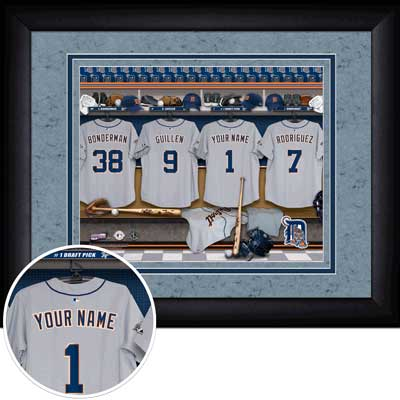 MLB Personalized Locker Room Framed Photographs