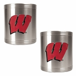 NCAA / College Stainless Steel Can Holder 2-Piece Set