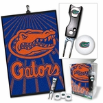 NCAA Golf Gift Sets - Golf Towel, 3 Golf Balls, & Divot Repair Tool