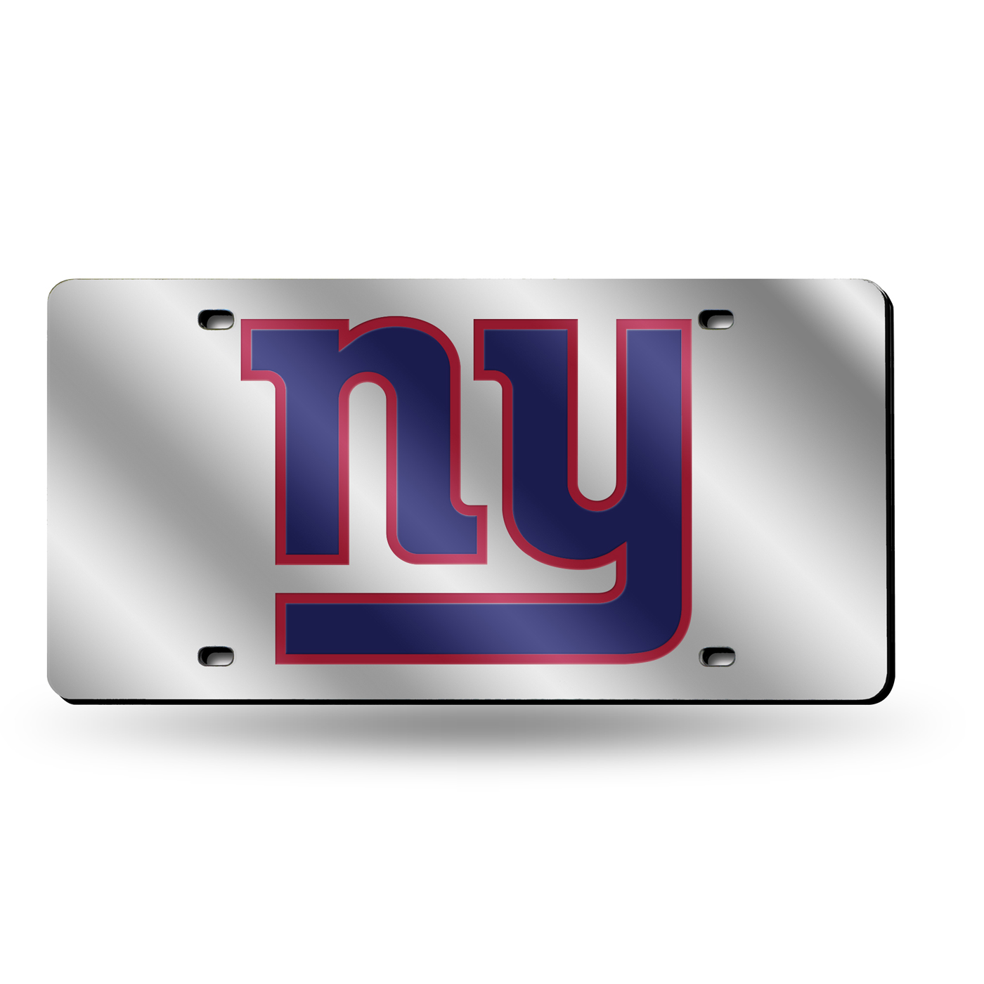 New York Giants Silver Laser Cut License Plate