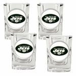 NFL 4-Piece 2 Oz Square Shot Glass Set