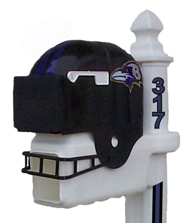 NFL Football Helmet Mailboxes