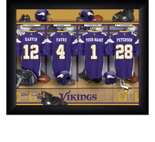 NFL Personalized Locker Room Framed Photographs
