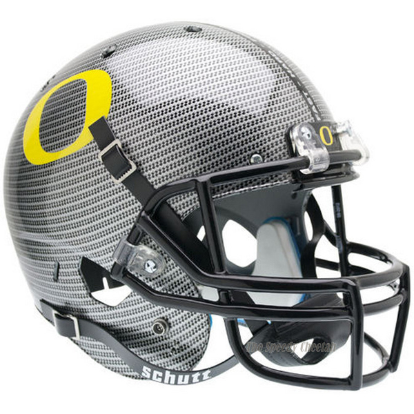 Oregon Ducks Carbon Fiber Schutt Mini Football HelmetOregon Ducks Carbon Fiber Helmet