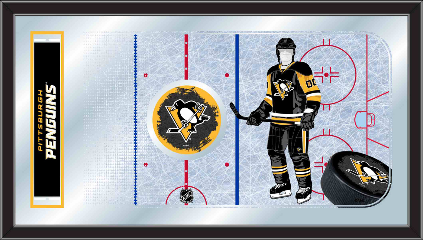 Pittsburgh Penguins Hockey Rink Mirror