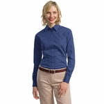 Port Authority Custom Women's Tonal Pattern Easy Care Button-Down Shirt