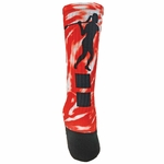 Red Lion #14 Women's Lacrosse Sublimated Crew Socks