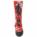 Red Lion Sublimated Basketball Point Crew Socks
