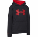 Under Armour Boys' Armour Fleece Storm Big Logo Hoodie