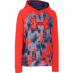 Under Armour Boys' Armour Fleece Storm Printed Big Logo Hoodie