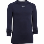 Under Armour HeatGear Armour Boys' Fitted Longsleeve Shirt