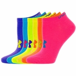 Under Armour HeatGear Neon No Show Women's Socks - 6 Pair