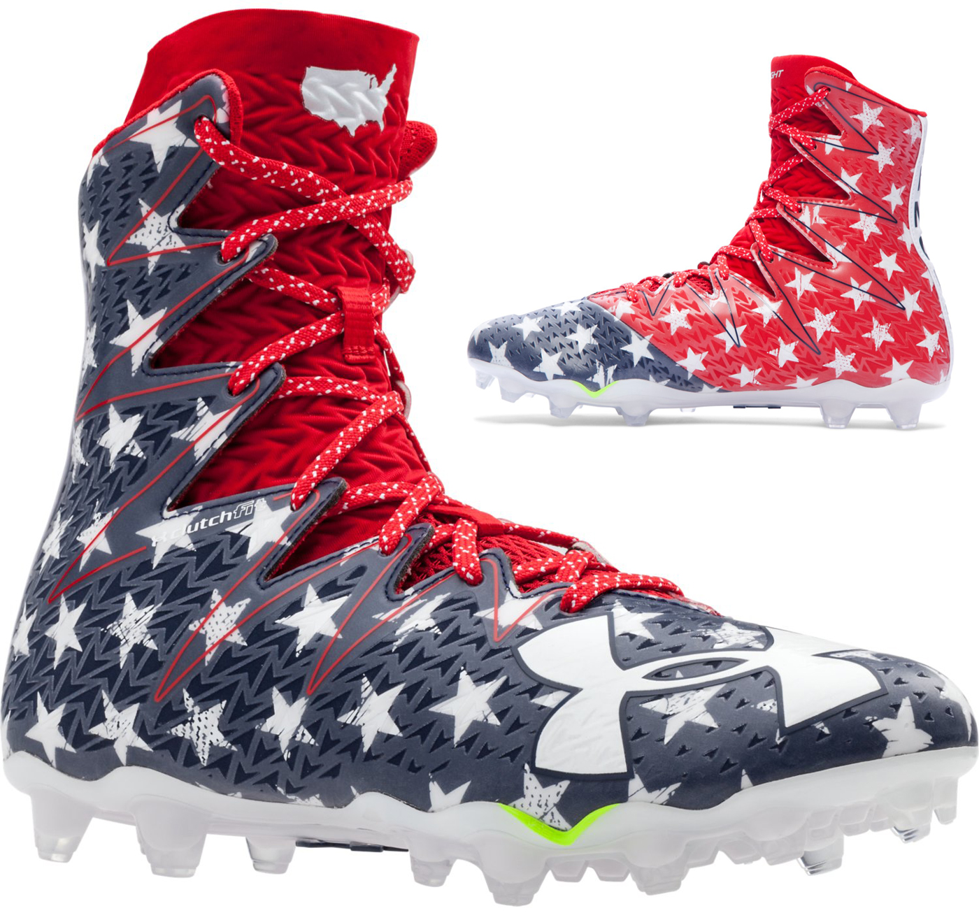 first rate fd2fa 313e2 ... under armour gold rush football cleats ...
