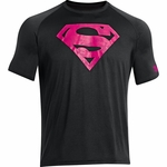 Under Armour Men's Alter Ego Power in Pink Superman T-Shirt