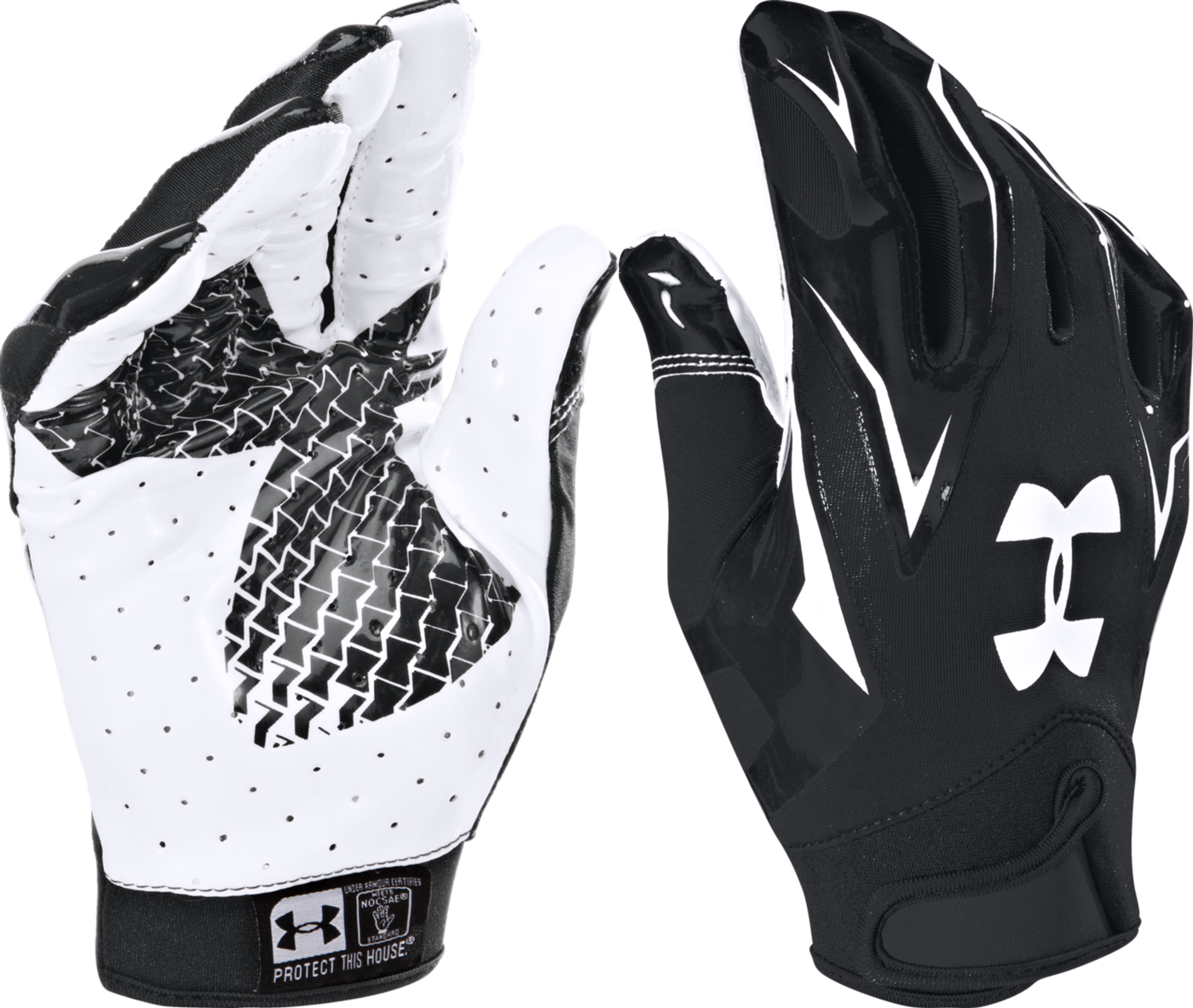 White Under Armour Gloves Football