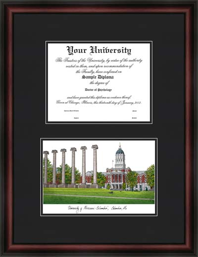 University Of Missouri Columbia Diplomate Framed