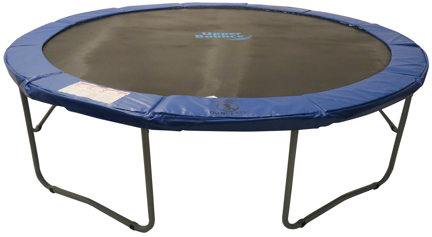 Upper Bounce 12 Round Trampoline With Blue Safety Pad