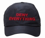 Deny Everything Tech Mesh Baseball Cap - Unisex (Spy Museum Exclusive)