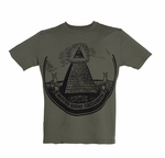 Green Dollar Bill Pyramid Tee