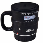 Into Focus Camera Lens Coffee Mug with Lid