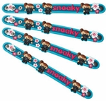 Sneaky PVC Snap Bracelets - Set of 4 (Spy Museum Exclusive)