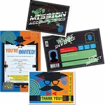 Electronic Top Secret/Mission Invitations and Thank You Notes