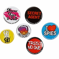 Buttons  - Set of 4 (Spy Museum Exclusive)