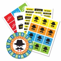 Electronic Sneaky Spy Sticker and Cipher Wheel Set