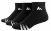 Adidas 3-Stripe Quater Men's Socks, Black, Size 10-13,3-pack