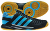 Adidas adiPower Stabil 10.1 Men's Court Shoes, Black / Turquoise