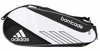 Adidas Barricade III Tour 3-Pack Racket Bag, Black/Silver/White