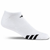 Adidas Cushioned No-Show Athletic Socks, White, 3-pack