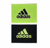 Adidas Interval Reversible Wristband, Neon Green / Black, 2-pack
