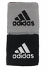 Adidas Interval Reversible Wristband, White/Silver/Black