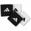 Adidas Interval Wide Reversible Wristband, Black/White, 2-pack