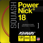 Ashaway PowerNick Squash String 18g, Red, SET