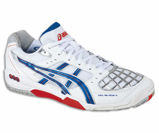 Asics Gel Blade White And Royal Squash Shoe Size