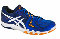 Asics Gel Blade™ 5 Men's Squash / Indoor Court Shoes, Electric Blue/White/Navy