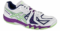 Asics GEL-Blade® 5 Women's Court Shoes, White/Pistachio/Grape
