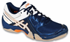new - Asics Gel-Dominion Men's Court Shoes, Navy / Silver / White