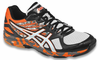 new - Asics Gel Flashpoint 2 Men's Court Shoes, Black / Silver / Flame