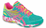 Asics Gel-Flashpoint 2 Women's Court Shoes, Atlantis Blue / Pink